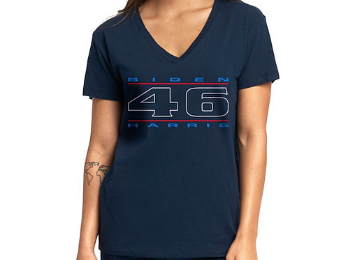 """46"" Red, White & Blue Women's V-Neck"