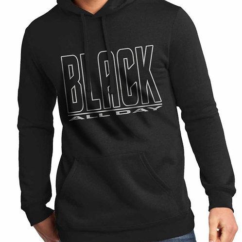 Black All Day Unisex Hooded Sweatshirt