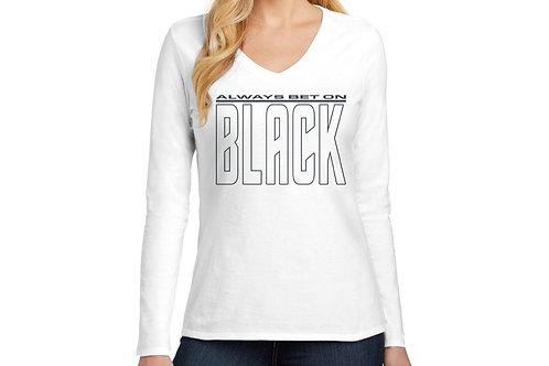 Always Bet on Black (NB) Women's Long Sleeve V-Neck