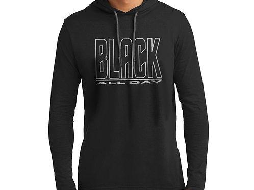 Black All Day Men's Hooded T-Shirt