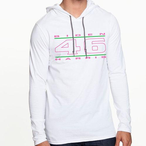 """""""46"""" Pink & Green Men's Hooded T-Shirt"""