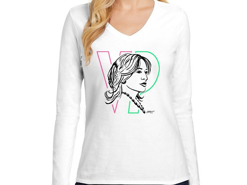 VP Women's Long Sleeve V-Neck