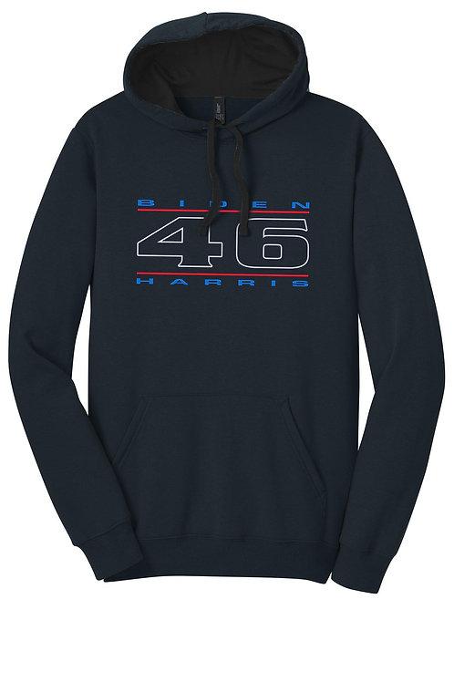 """46"" Red, White & Blue Unisex Hooded Sweatshirt"
