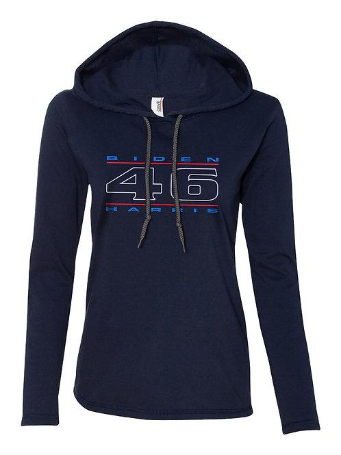 """""""46"""" Red, White & Blue Women's Hooded T-Shirt"""