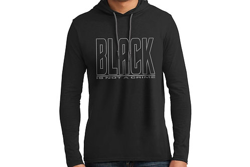 Black is Not a Crime Men's Hooded T-Shirt