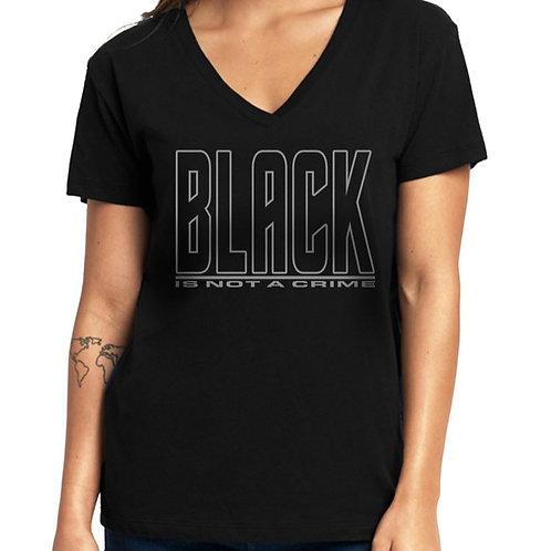 Black is Not a Crime Women's V-Neck