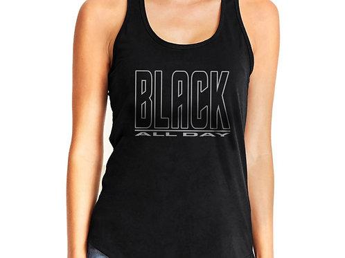 Black All Day Women's Racerback Tank Top
