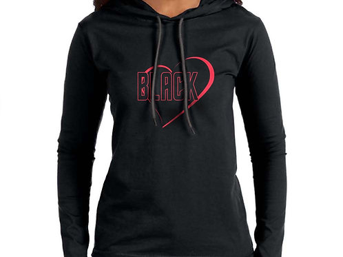 Black Love Women's Hooded T-Shirt