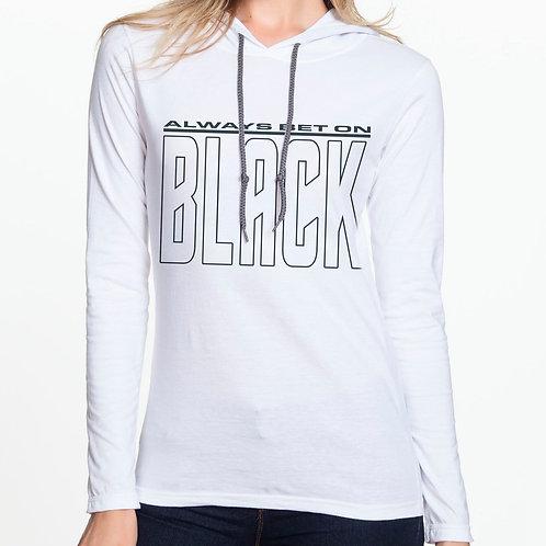 Always Bet on Black (NB) Women's Hooded T-Shirt