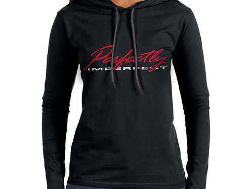 Perfectly Imperfect Women's Hooded T-Shirt
