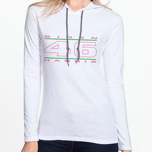 """""""46"""" Pink & Green Women's Hooded T-Shirt"""