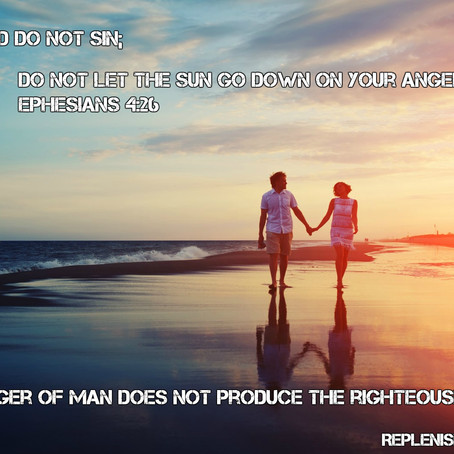 Anger; Sin or Not Sin- Our Choice