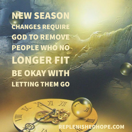 New Season and Letting Go