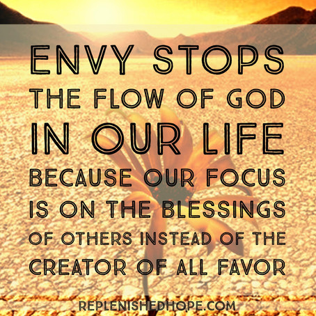 Envy Stops The Flow Of God