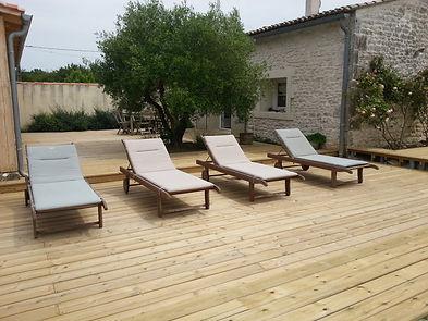 Terrasse bois résineux lmj77montevrain