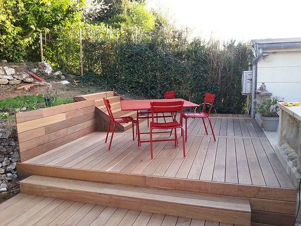 Seine et marne. Terrasse bois exotique. lmj77.