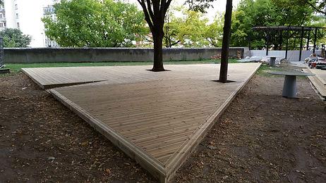 Terrasse bois résineux lmj77 paris