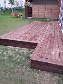Terrasse bois résineux lmj77 magny-le-hongre
