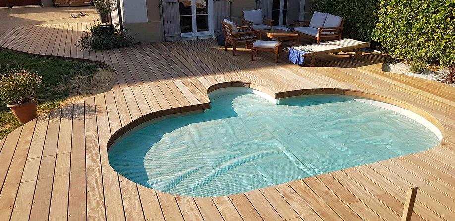 Terrasse bois piscine Seine et Marne Lmj77