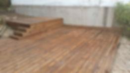 Terrasse bois résineux lmj77 quincy-voisin
