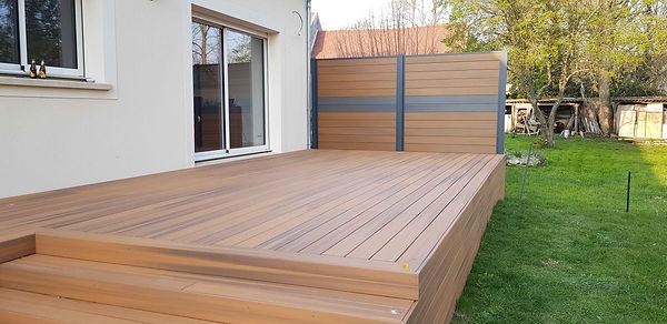 Terrasse composite fiberdeck Moisenay