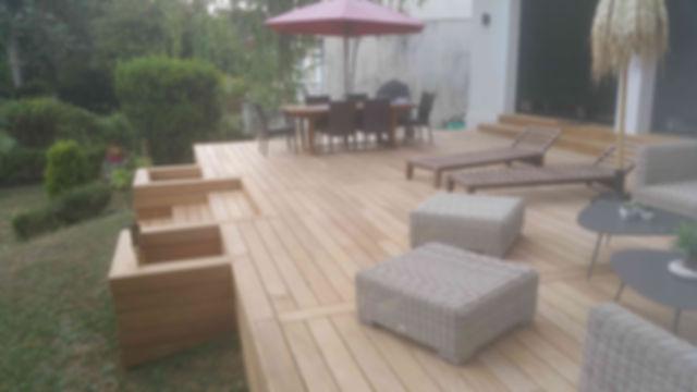 Pose de terrasse en bois exotique Garapa Ipé Cumaru Melun