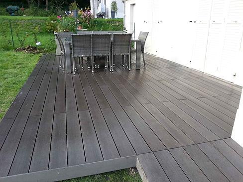 Terrasse bois composite Magny le Hongre