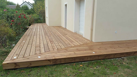 Terrasse bois résineux lmj77 thorigny
