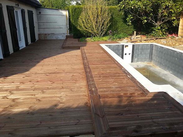 Terrasse pin brun tournan-en-brie
