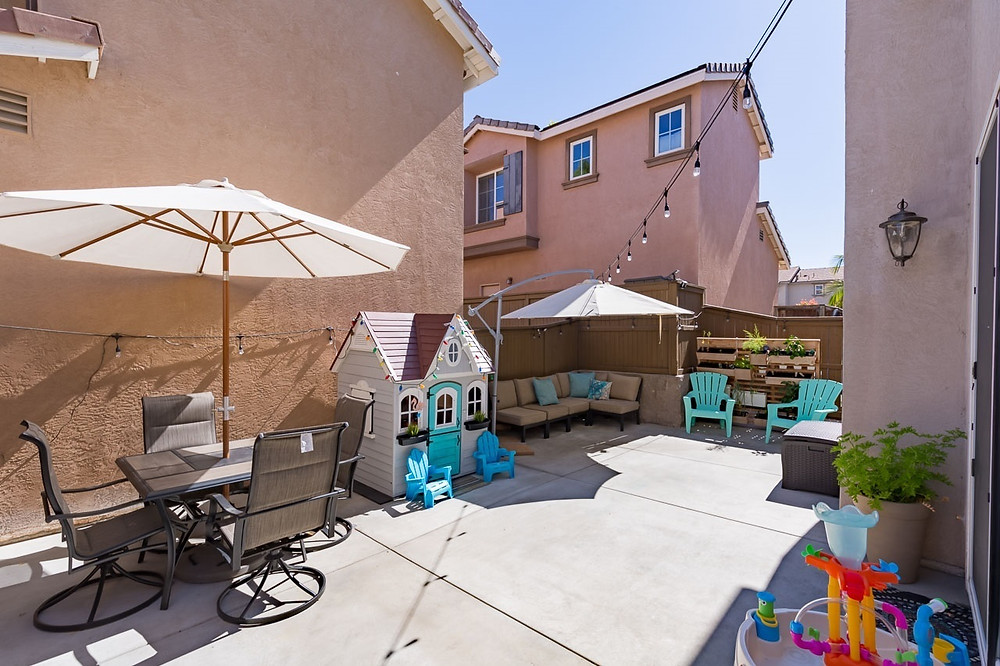 Backyard zen retreat.