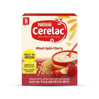 Nestle Cerelac Wheat Apple Cherry From 8 to 12 Months,300g