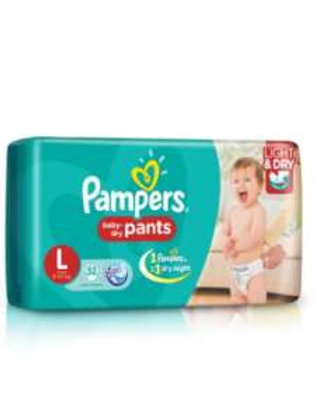 Pampers L size Diaper, 7Pants