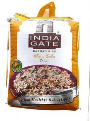 INDIA GATE White Sella Dubar Basmati Rice, 10 Kg