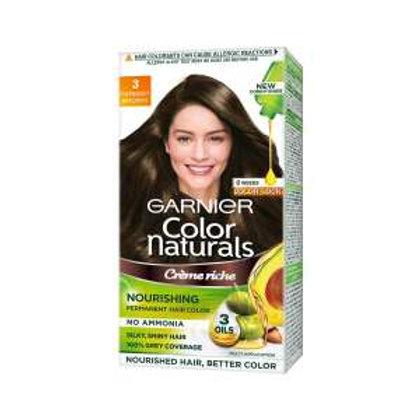 Garnier Color Naturals Crème hair color, Shade 3 Darkest Brown, 35ml + 30g