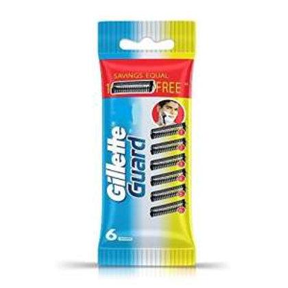 Gillette Guard Manual Shaving Razor Blades - 6 Cartridges
