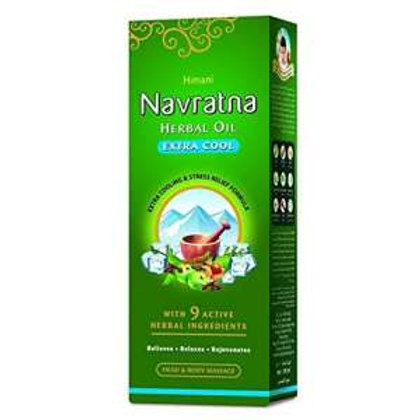 Navratna Ayurvedic Oil Extra Thanda, 200 ml