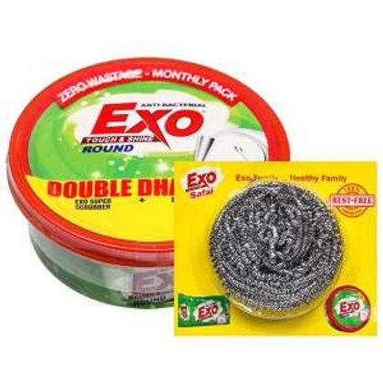 Exo Touch & Shine Dish Wash Bar (Free Exo Safai Steel Scrubber)