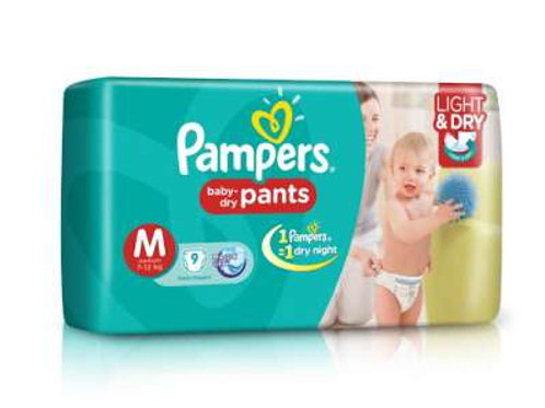 Pampers M size Diaper, 8Pants