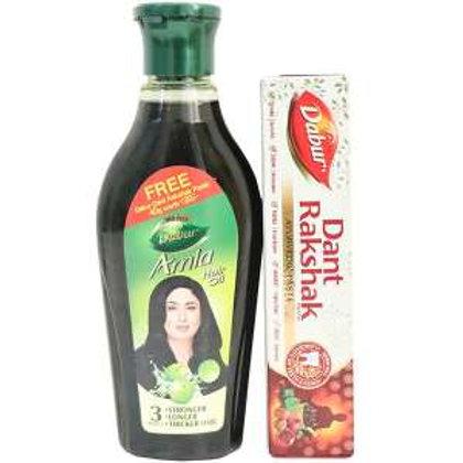 Dabur Amla Hair Oil ,180ml(free tantrakshak paste)