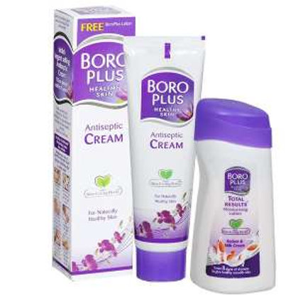 Boroplus Antiseptic Cream 80ml with Boroplus Lotion wort 50 rup