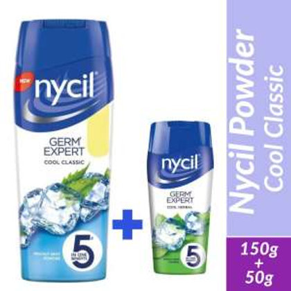 Nycil Cool Classic Prickly Heat Powder - 150g(Free 50g nycil)
