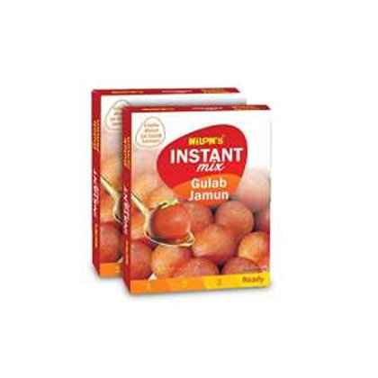 NILON'S Gulab Jamun Instant Mix - 180 g Each (Pack of 2)