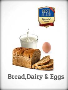 cake,milk and eggs