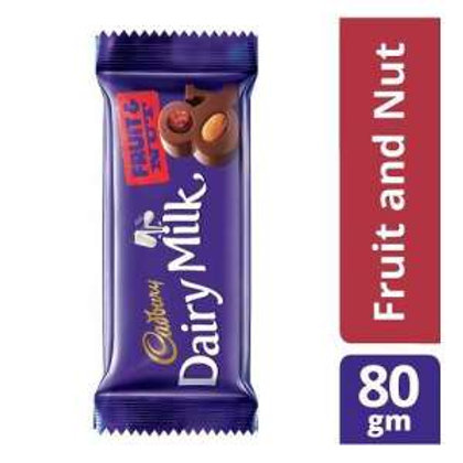 Cadbury Dairy Milk Fruit & Nut Chocolate Bar, 80 g