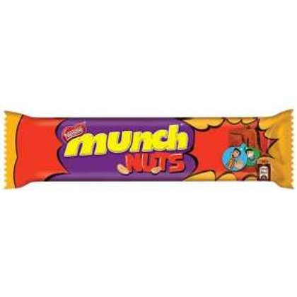 Nestle Munch Nuts - Chocolate Coated Crunchy Wafer, Bar, 35.2 g