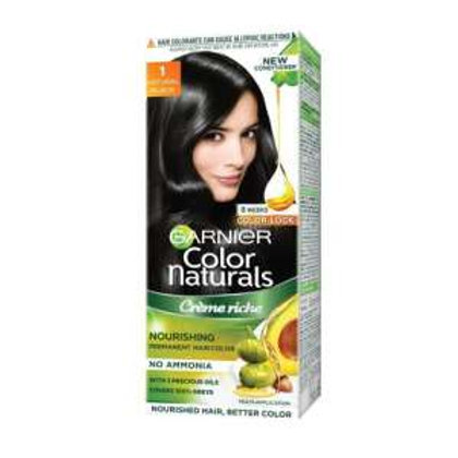 Garnier Color Naturals Creme Hair Color - 1 Natural Black (70ml+ 60gm)