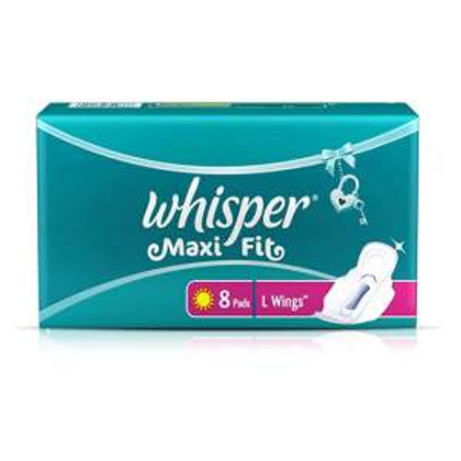 Whisper Maxi Nights Sanitary Pads for Women, Large 8 Pad