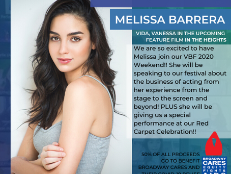Melissa Barrera from IN THE HEIGHTS joins VBF 2020