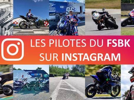 Les pilotes du FSBK sur Instagram #1