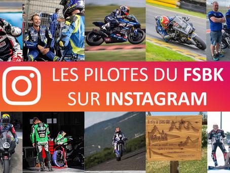 Les pilotes du FSBK sur Instagram #2